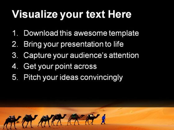 Camel Animals PowerPoint Templates And PowerPoint Backgrounds 0211 ...