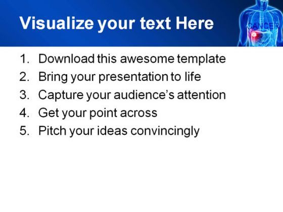 cancer medical powerpoint template 0610 | powerpoint templates, Modern powerpoint