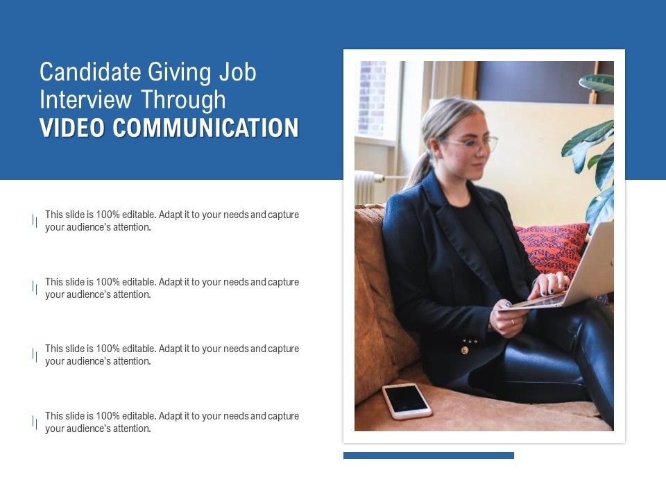 Candidate Giving Job Interview Through Video Communication