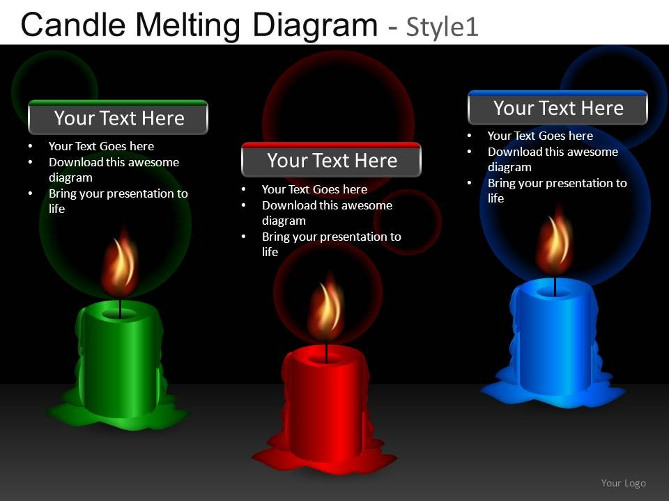candle melting diagram 1 powerpoint presentation slides db