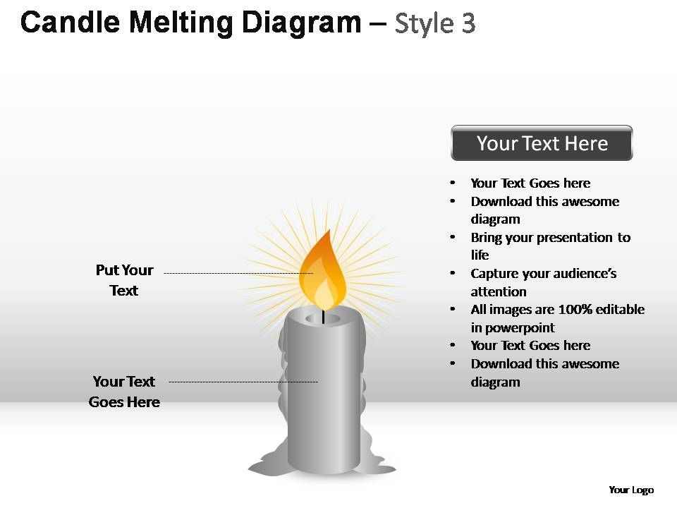 Candle Melting Diagram Style 3 Powerpoint Presentation Slides ...