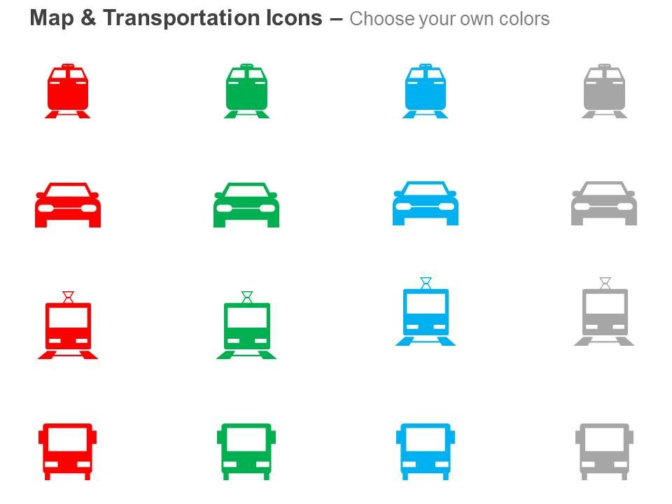 Keep them glued with our car bus bts train ppt icons graphics they