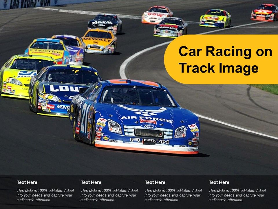 Car Racing On Track Image | PowerPoint Slide Template