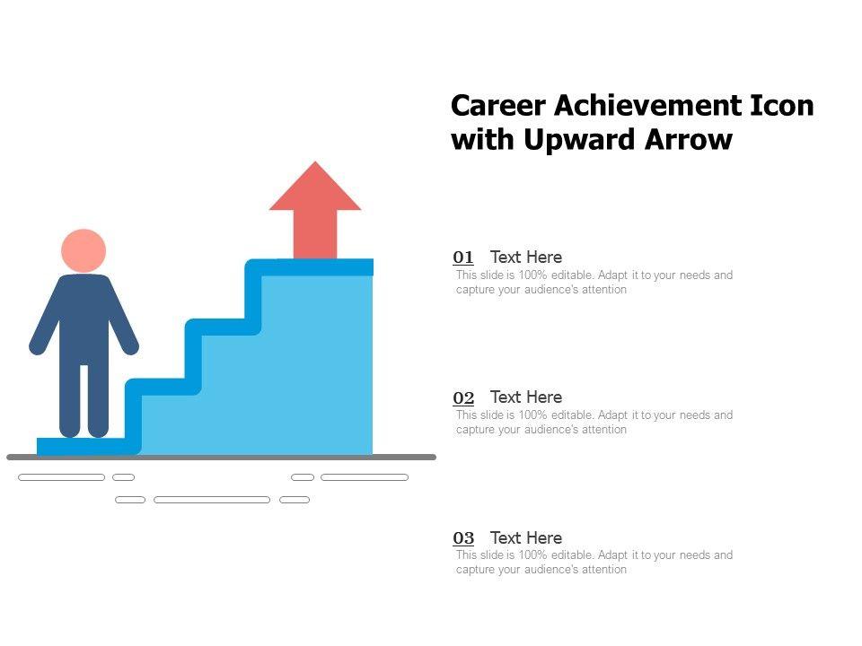 Career Achievement Icon With Upward Arrow