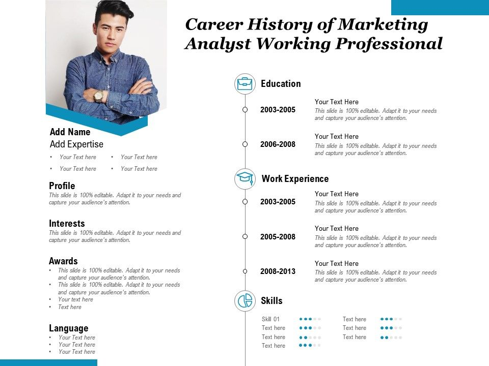 Career History Of Marketing Analyst Working Professional