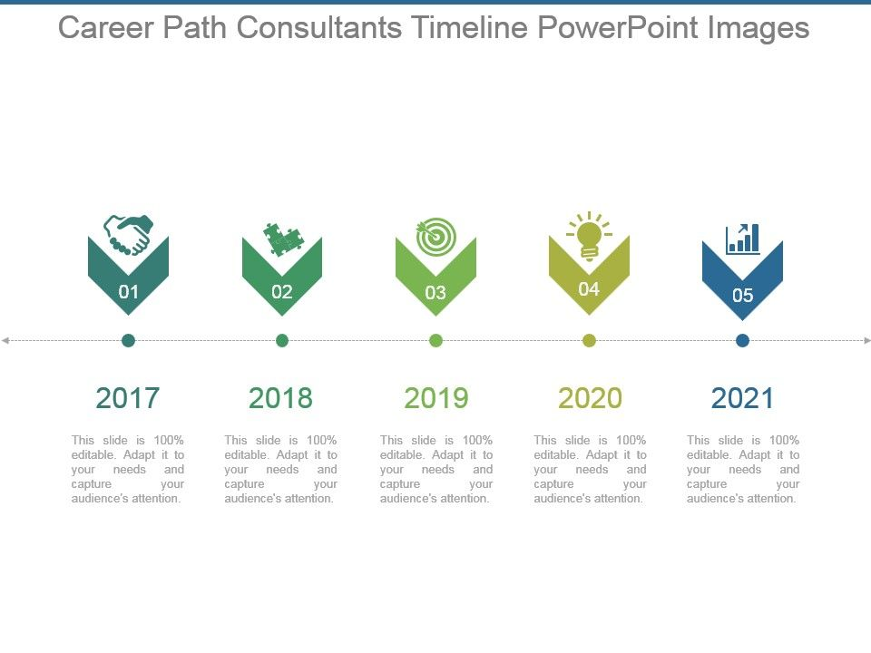 career path consultants timeline powerpoint images presentation