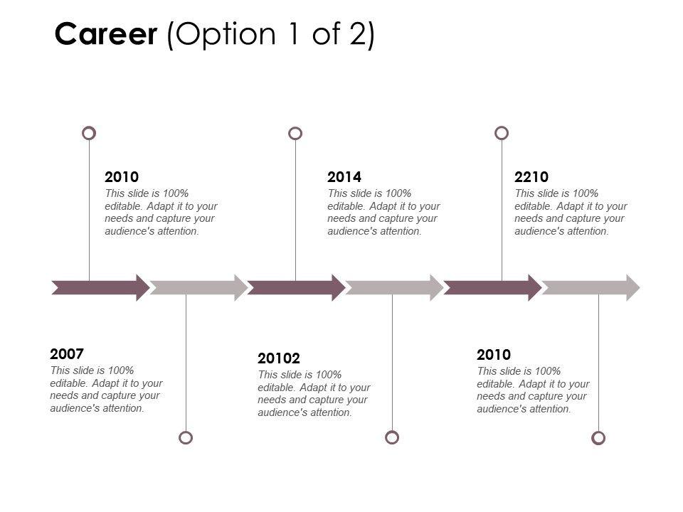 Career Timelines Roadmap D161 Ppt Powerpoint Presentation File Master Slide