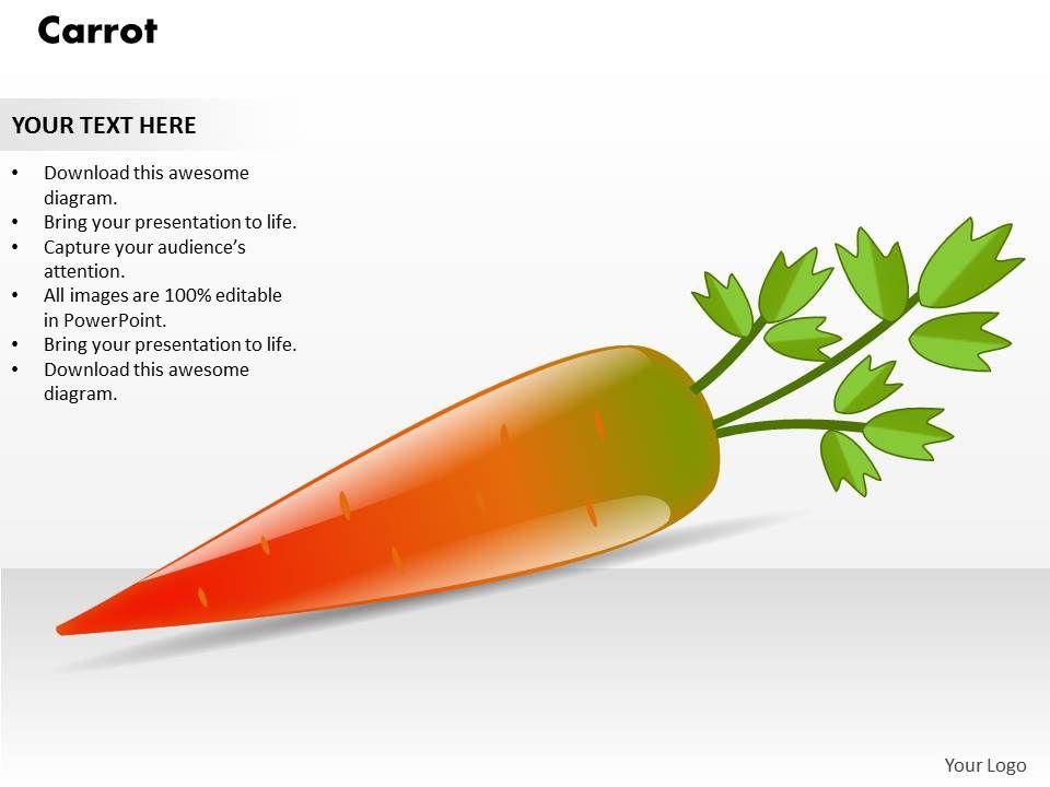 Carrot powerpoint template PowerPoint Template Slide   Templates ...