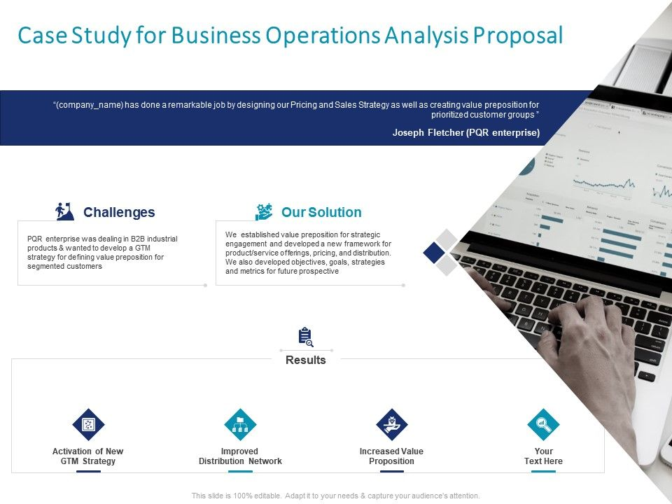 Case Study For Business Operations Analysis Proposal Ppt Powerpoint Picture Design