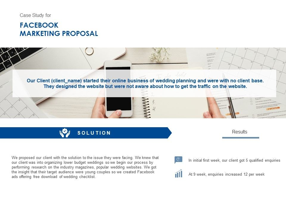 Case Study For Facebook Marketing Proposal Ppt Powerpoint Gallery