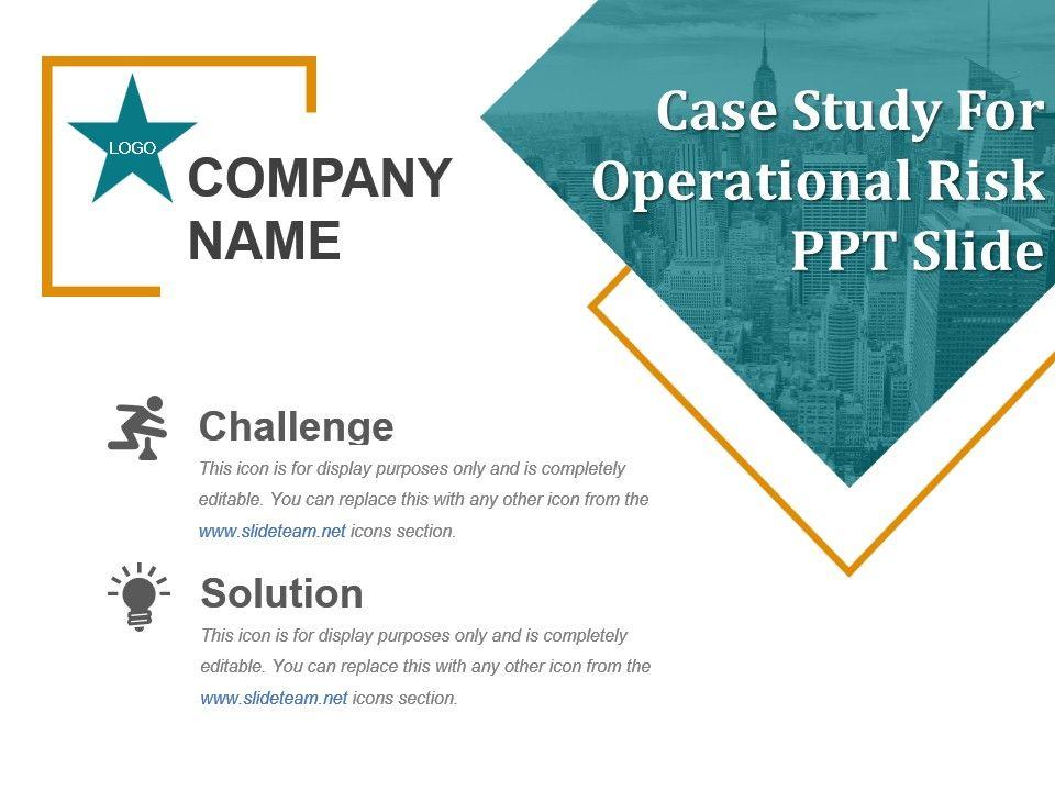 operational risk case studies