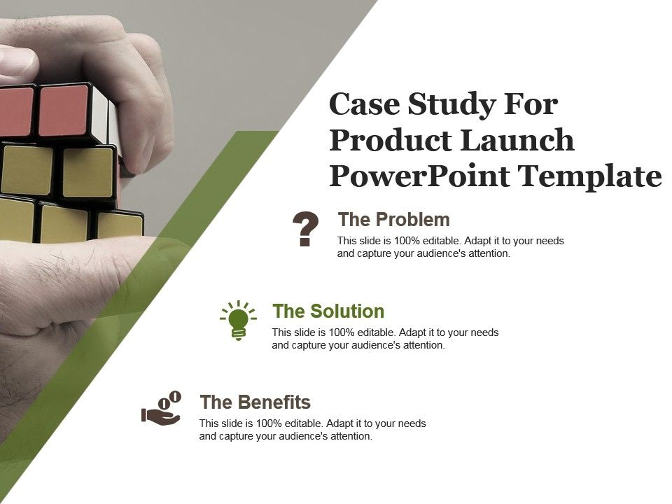 Case Study For Product Launch Powerpoint Template   PowerPoint Slide ...