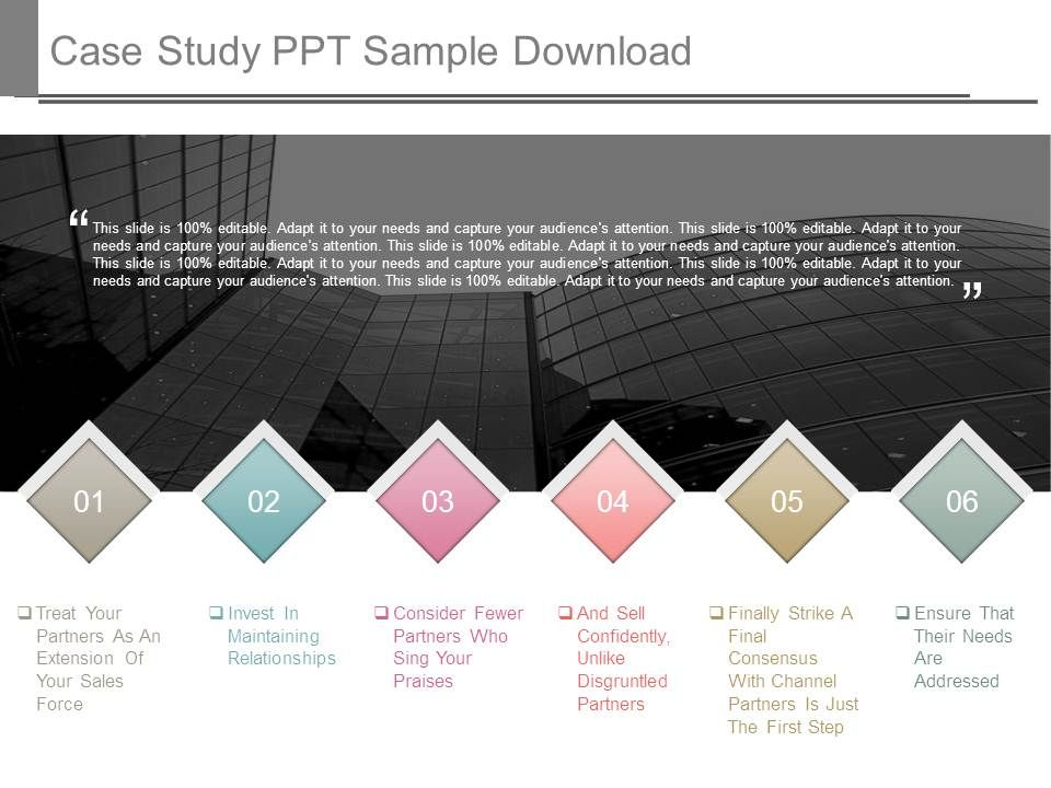 case study sample ppt