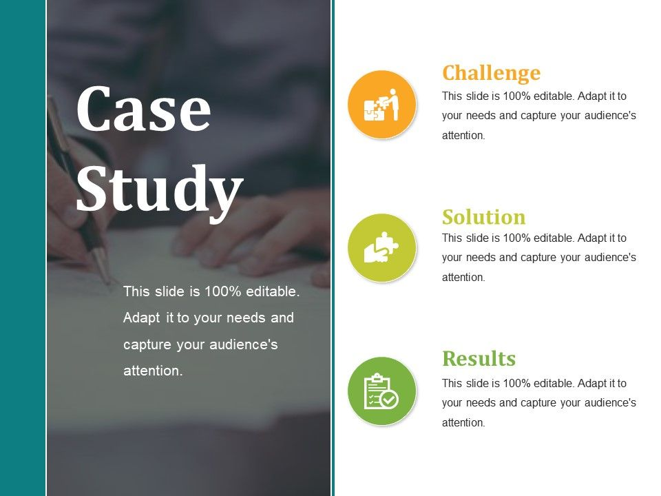 Business case study presentation template