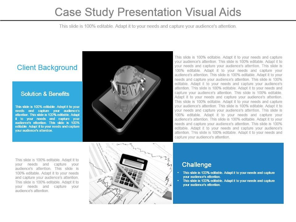 case study presentation visual aids powerpoint presentation