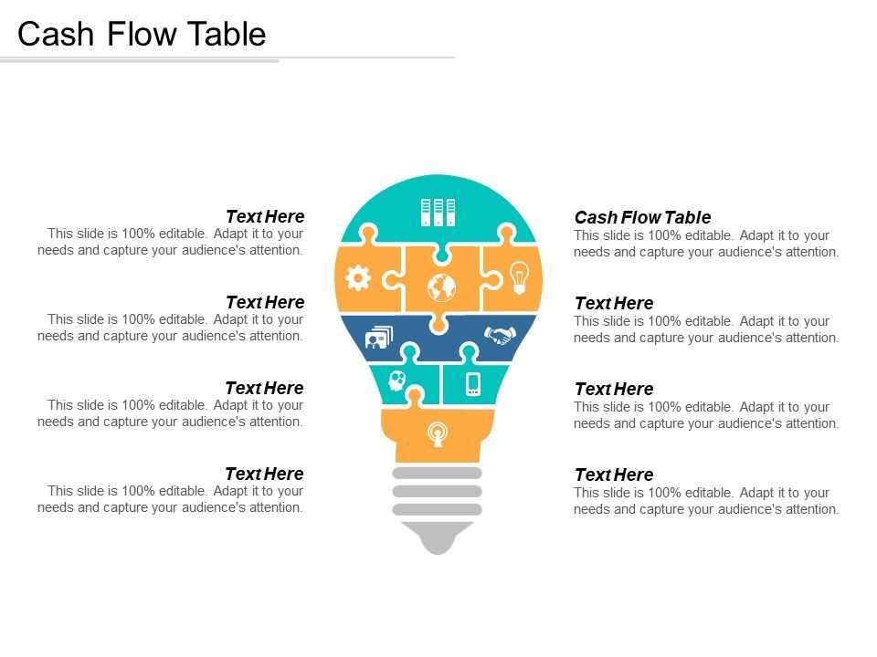 Cash Flow Table Ppt Powerpoint Presentation Gallery Slides ...