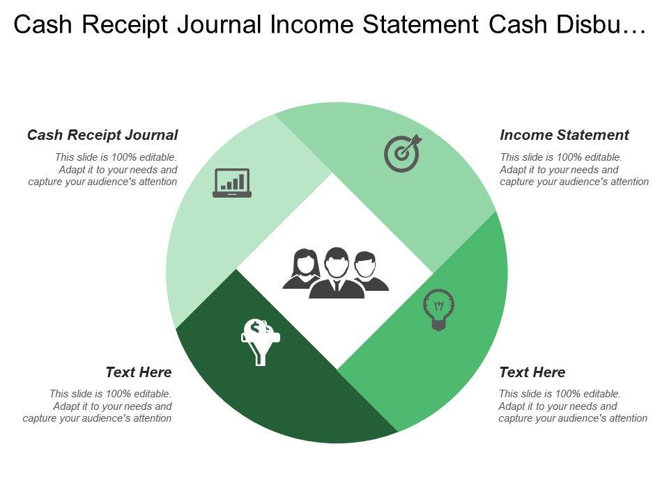 Cash Receipt Journal Income Statement Cash Disbursement