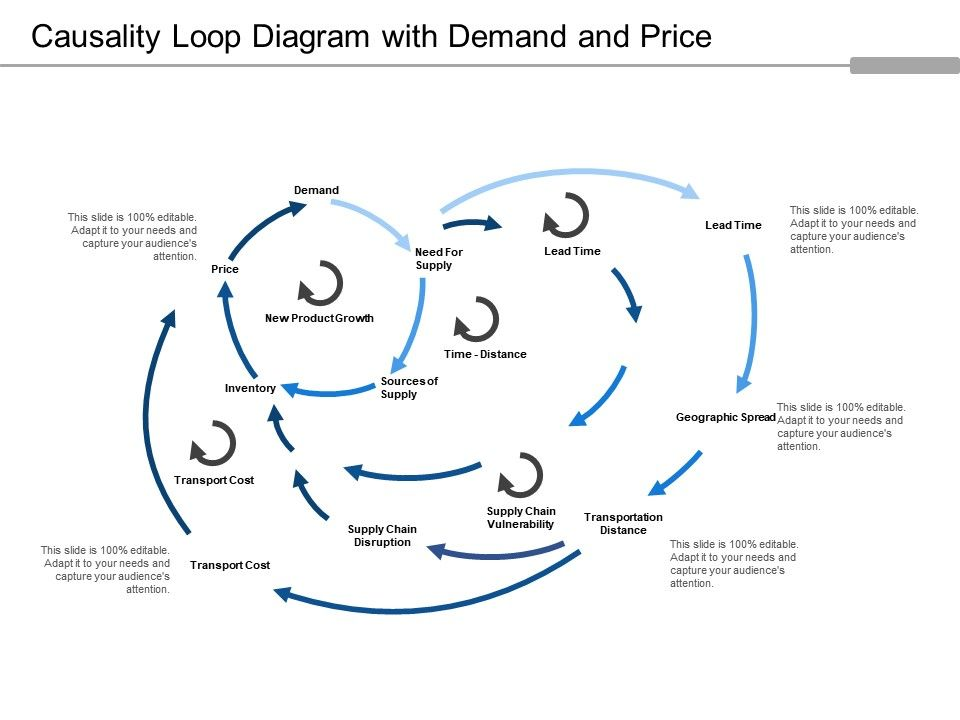 Causality Loop Diagram With Demand And Price Powerpoint Presentation Slides Ppt Slides Graphics Sample Ppt Files Template Slide
