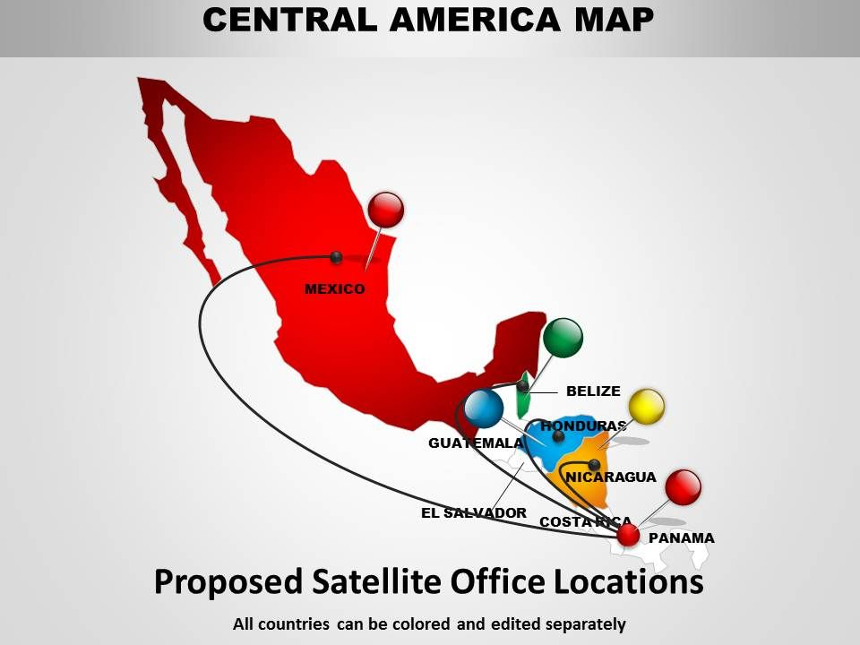 central america map and chart 1114 templates powerpoint