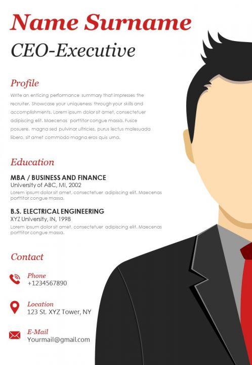 CEO Executive Example CV Template
