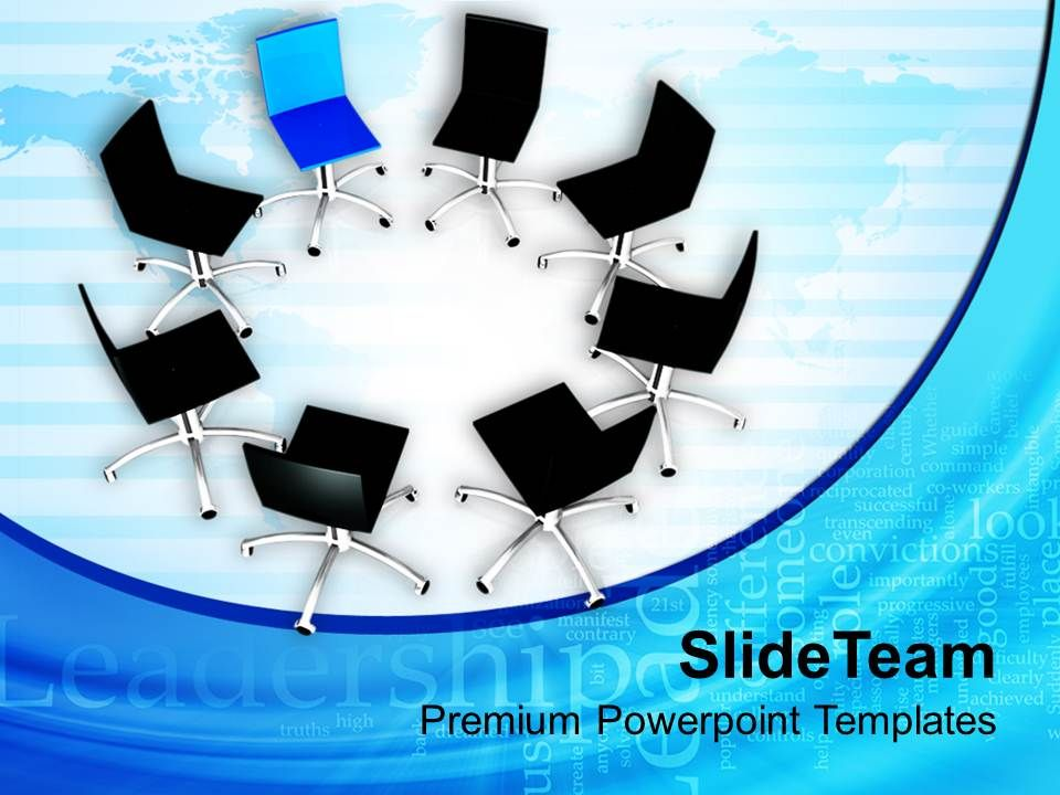 chairs_in_circle_with_leader_finance_powerpoint_templates_ppt_themes_and_graphics_0213_Slide01