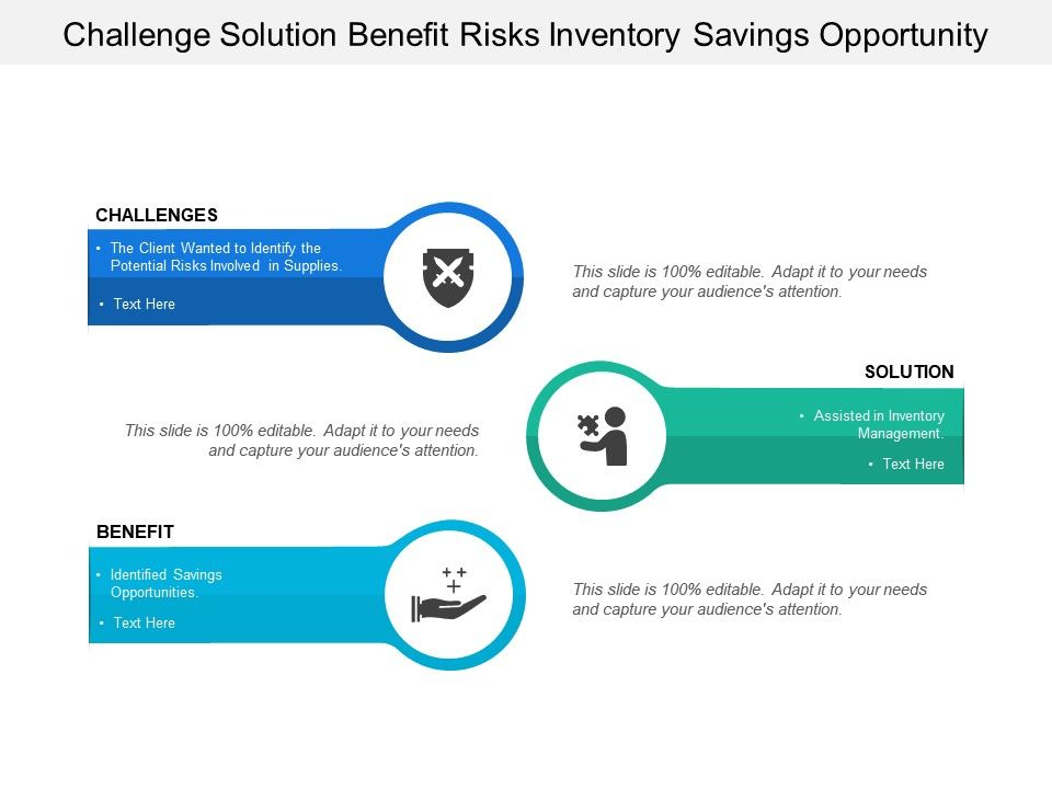 challenge_solution_benefit_risks_inventory_savings_opportunity_Slide01