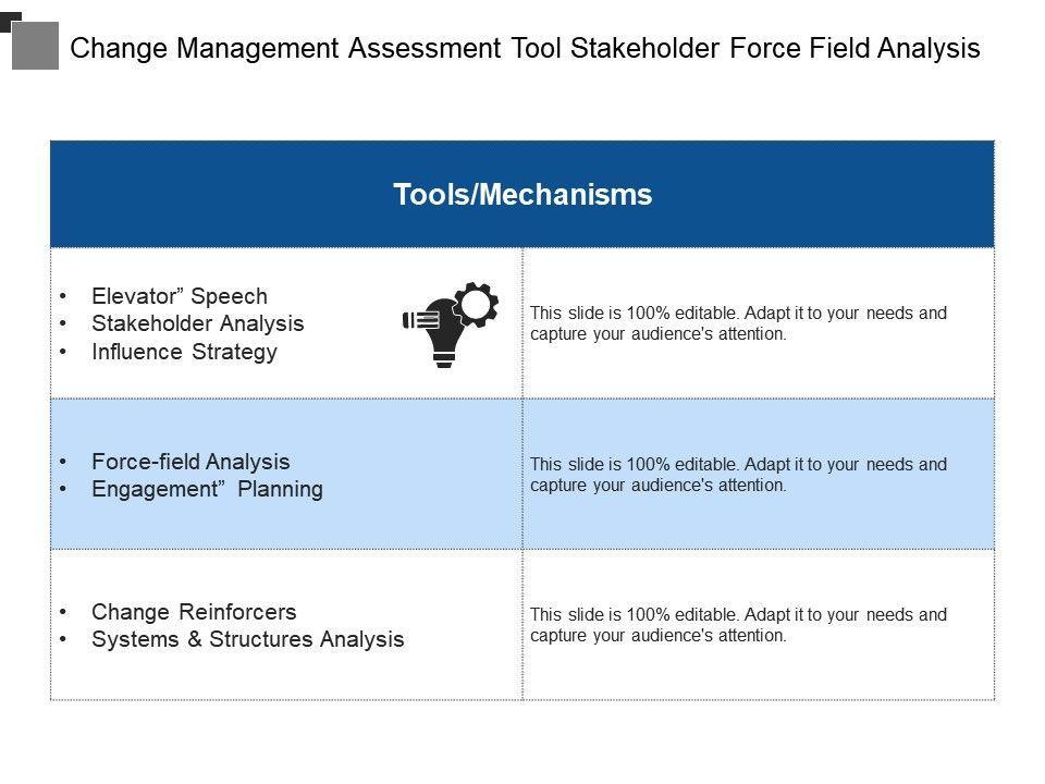 Change Management Assessment Tool Stakeholder Force Field Analysis Slide01 Slide02