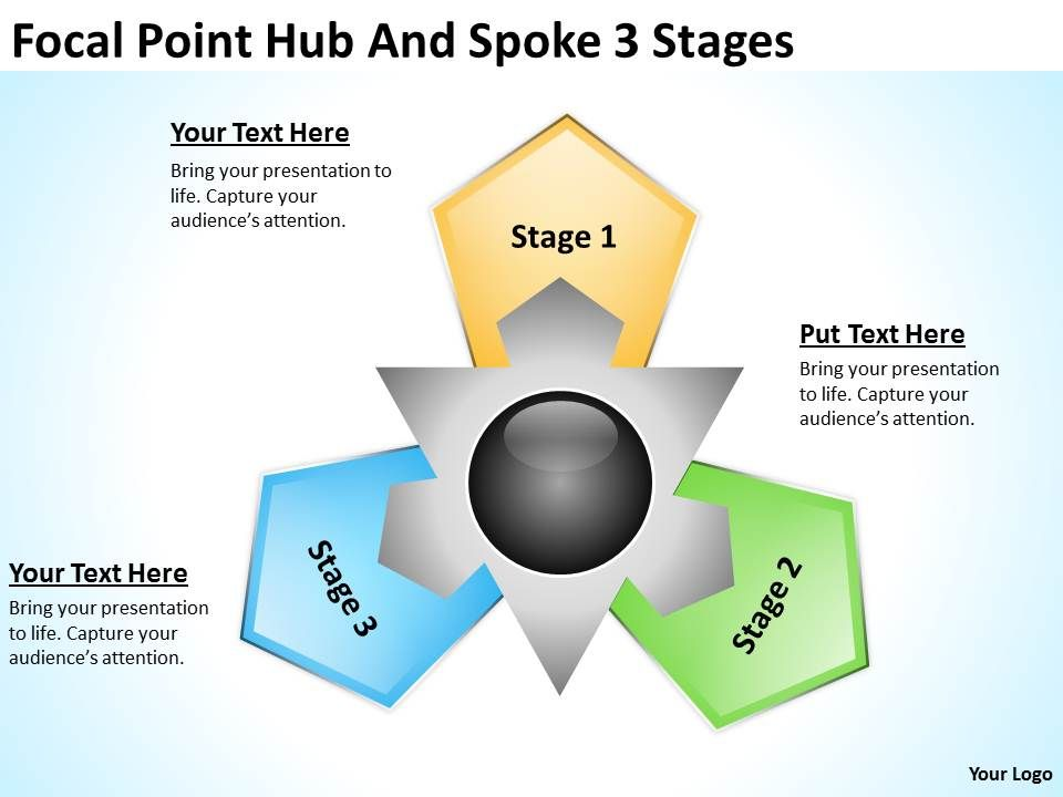 Change Management Consulting Hub And Spoke 3 Stages Point Templates Ppt Backgrounds For Slides 0523 Slide01