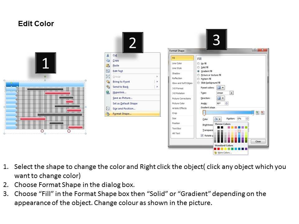 Change Management Consulting Unique Gantt Chart Powerpoint Templates - Unique gantt chart ppt template design
