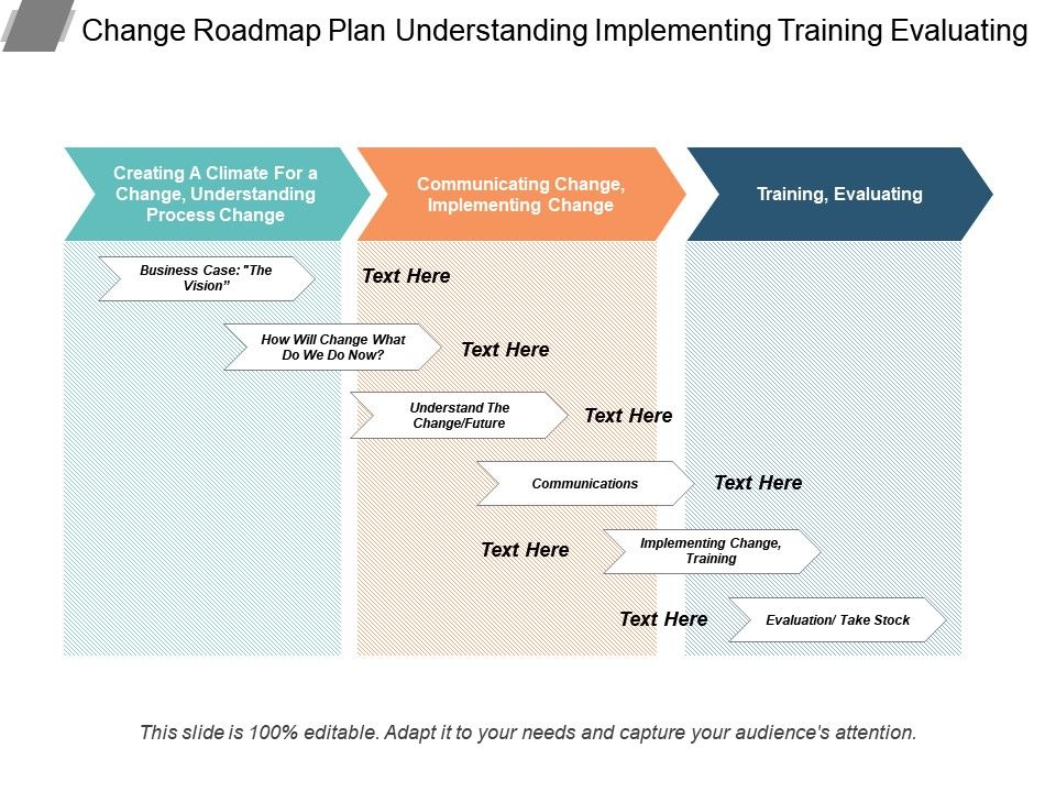 Change Roadmap Plan Understanding Implementing Training
