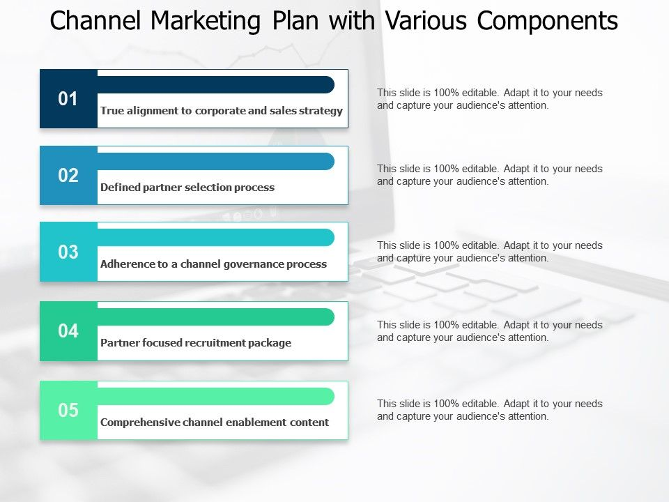 Channel Marketing Plan With Various Components