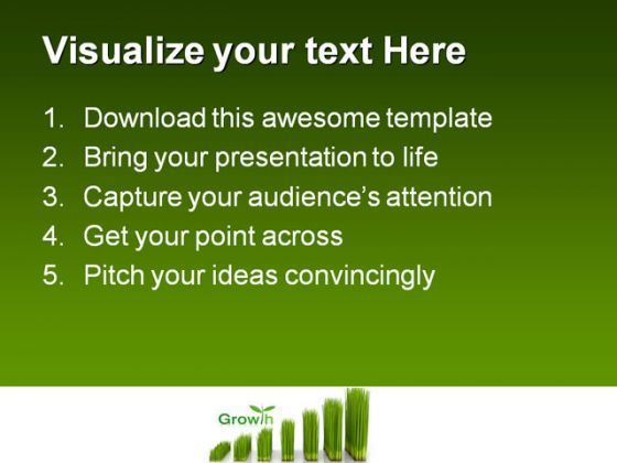 chart created with green grass nature powerpoint templates and, Modern powerpoint