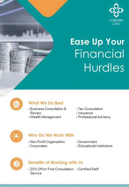 Charted Financial Consultant Two Page Brochure Template
