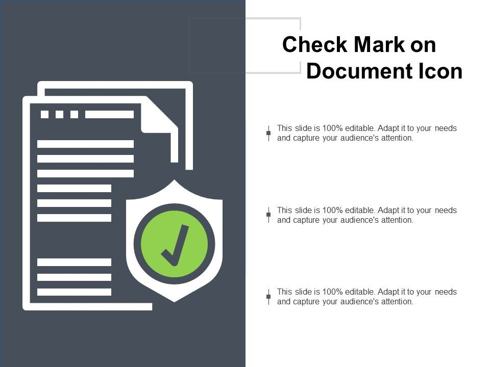 Check Mark On Document Icon