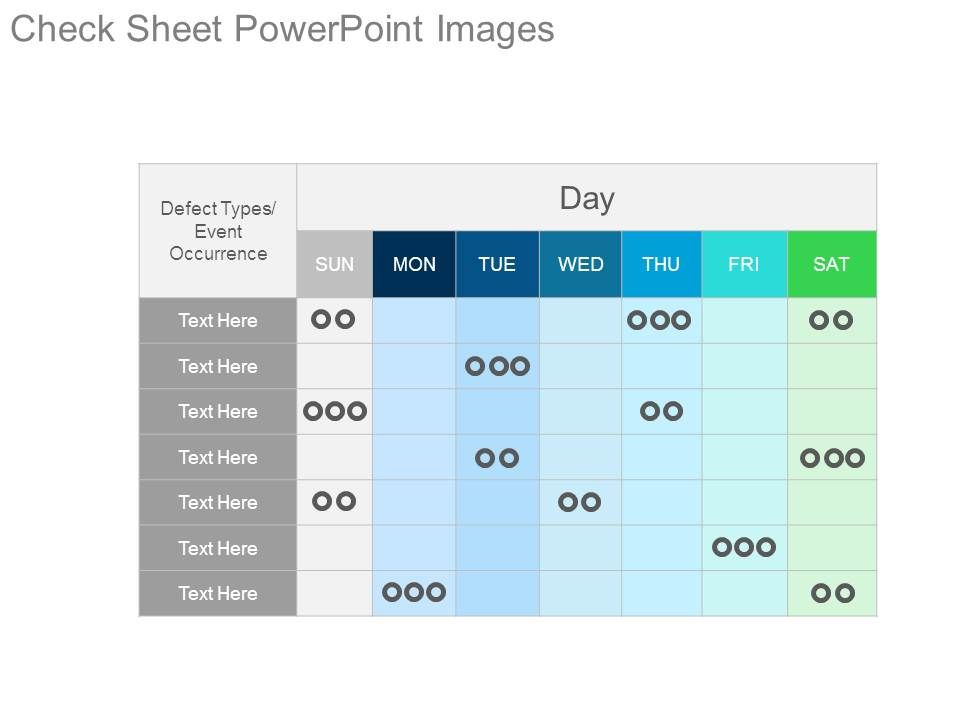 check sheet powerpoint images powerpoint design template sample