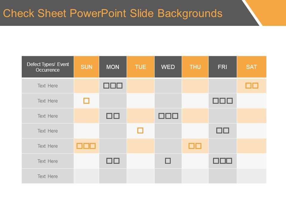 Check Sheet Powerpoint Slide Backgrounds | PowerPoint Presentation ...
