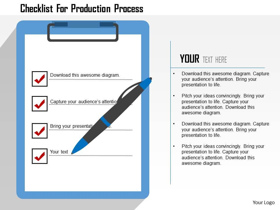 checklist_for_production_process_flat_powerpoint_design_Slide01