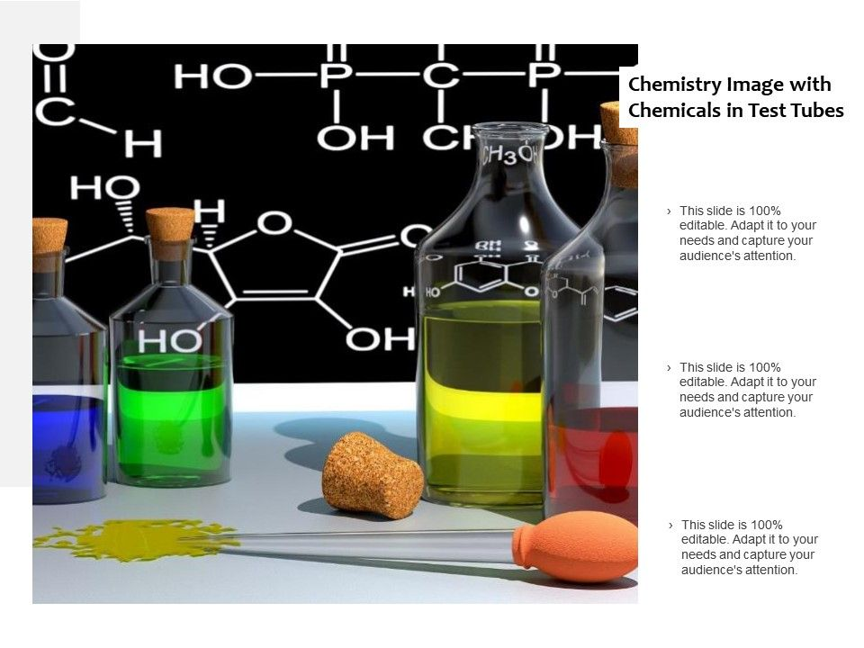 Chemistry Image With Chemicals In Test Tubes