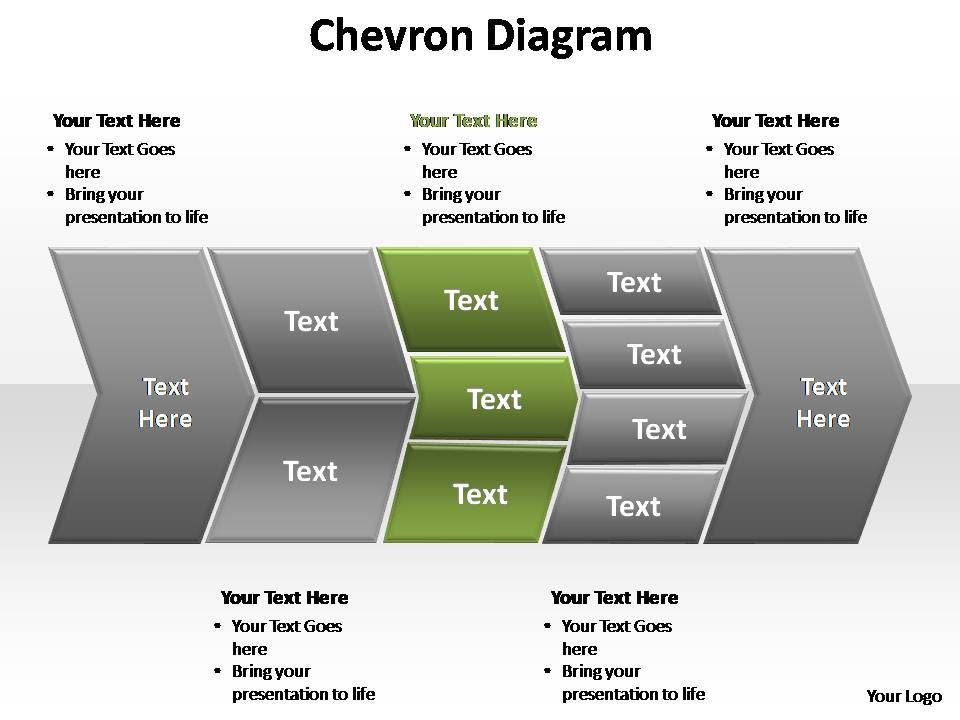 chevron diagram editable powerpoint templates | presentation, Modern powerpoint