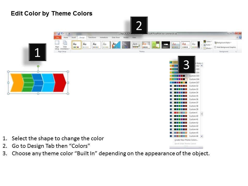 chevron diagram editable powerpoint templates infographics images