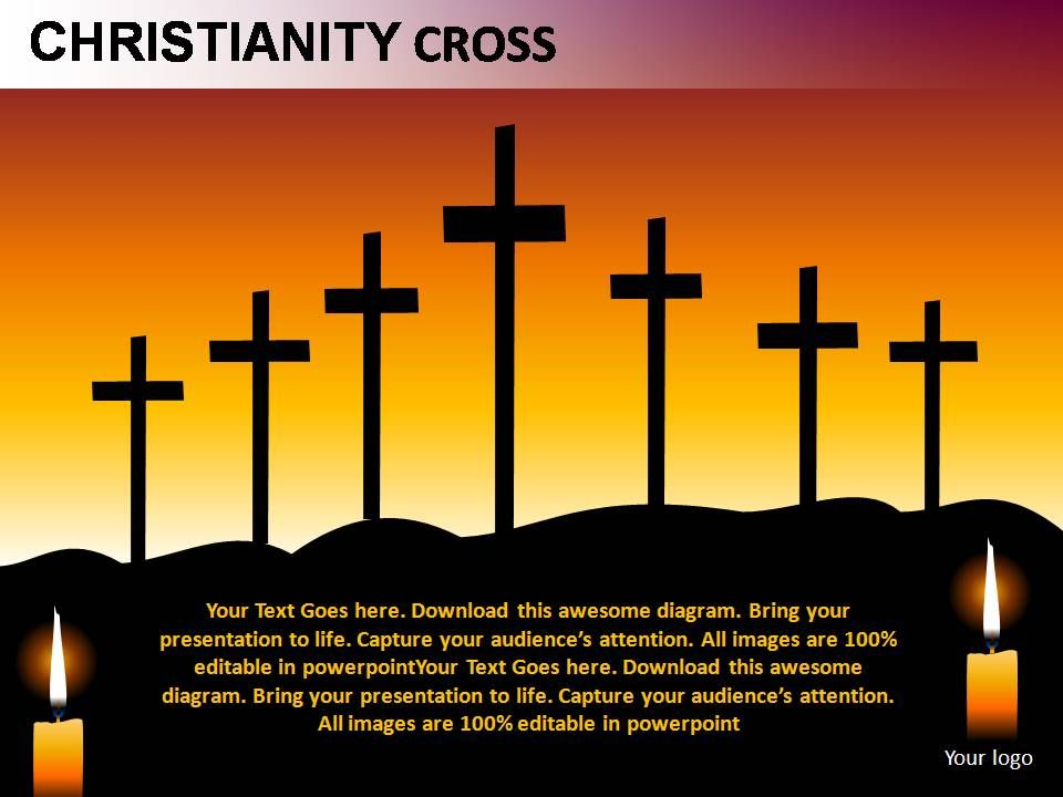 christianity cross powerpoint presentation slides