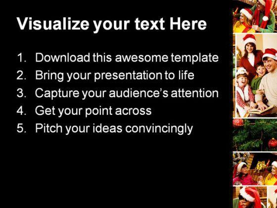 christmas celebration festival powerpoint templates and powerpoint, Powerpoint templates