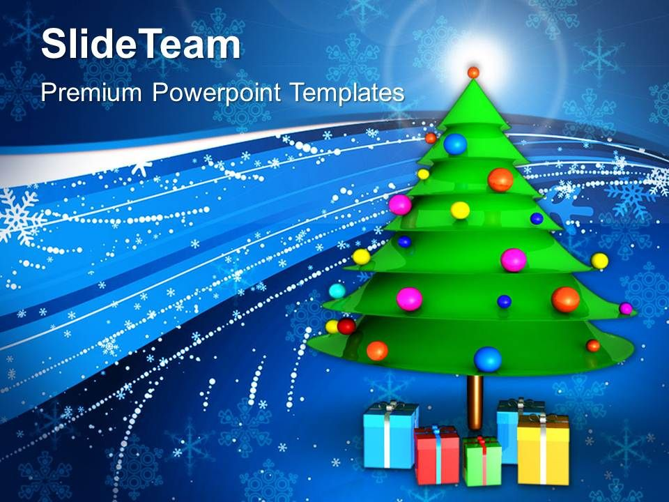 christmas_greetings_decorative_tree_with_gifts_holidays_templates_ppt_backgrounds_for_slides_Slide01
