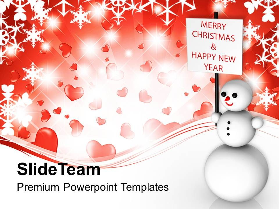 christmas_greetings_snowman_wishing_and_happy_new_year_templates_ppt_backgrounds_Slide01