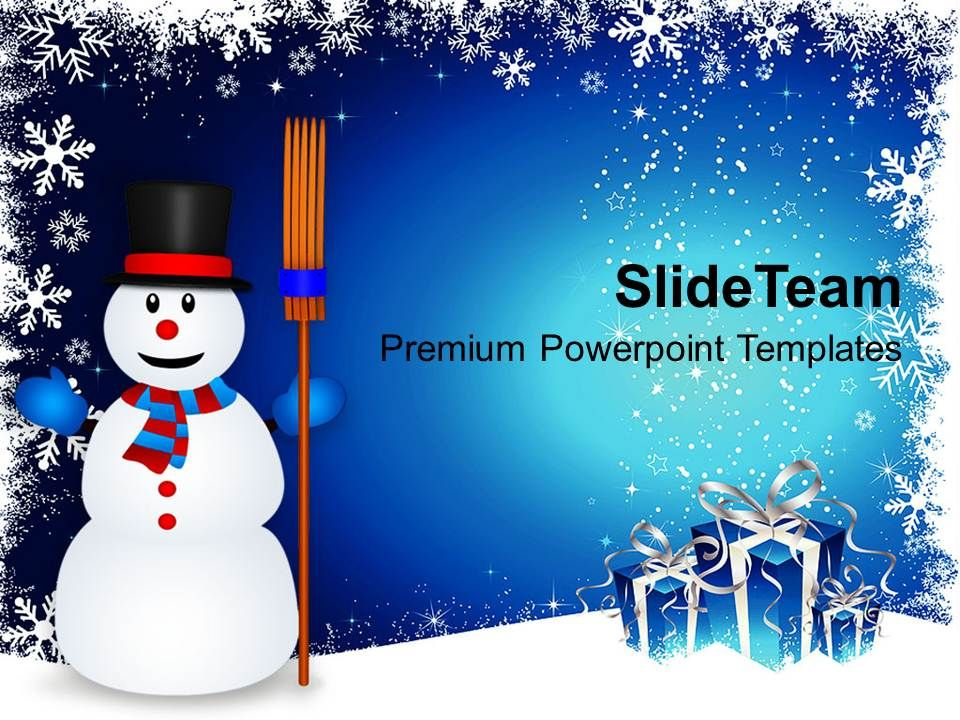 christmas_greetings_snowman_with_broom_on_powerpoint_templates_ppt_backgrounds_for_slides_Slide01