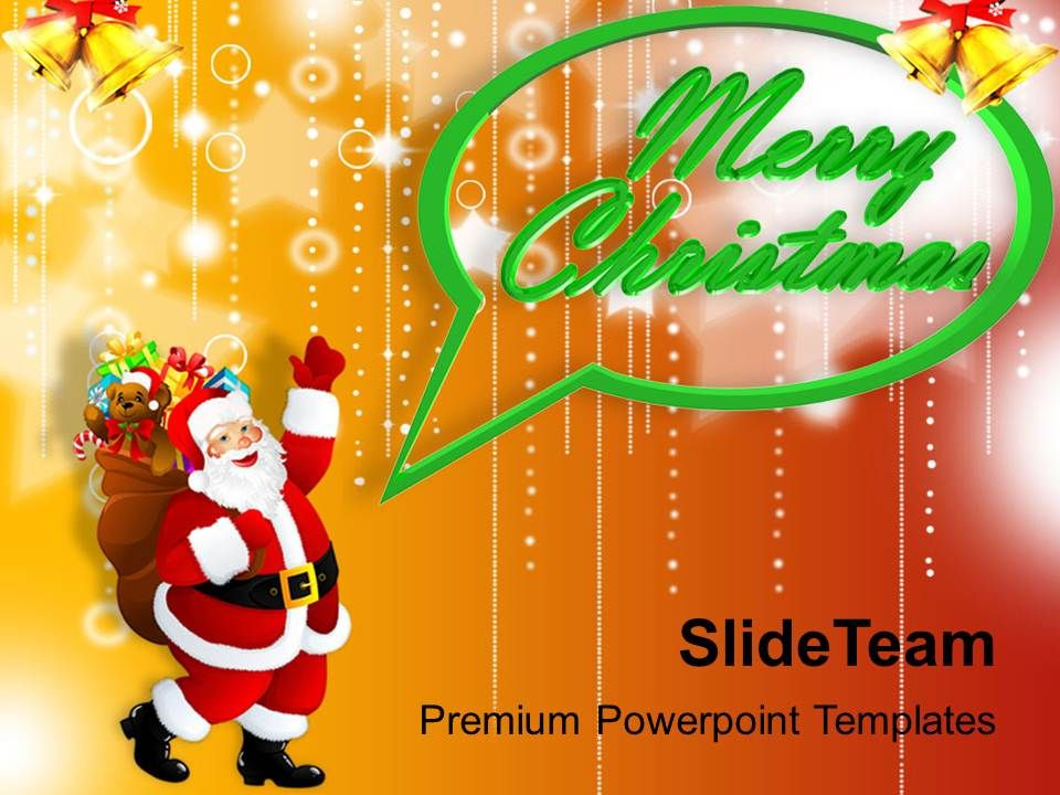 Christmas Nativity Free Santa Claus With Concept Powerpoint - Unique powerpoint holiday templates free concept
