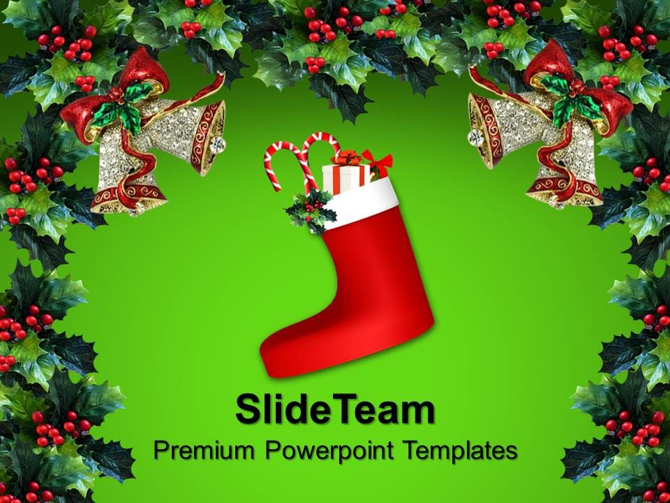 christmas pictures vintage decorations powerpoint templates ppt