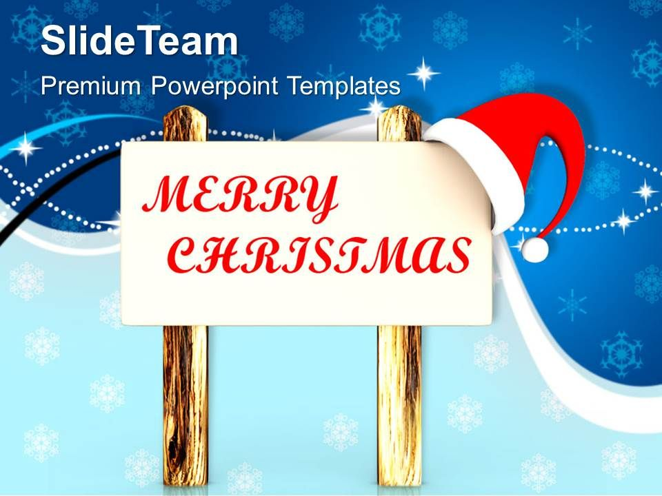 christmas_tree_pictures_happy_santas_message_on_wooden_board_templates_ppt_for_slides_powerpoint_Slide01
