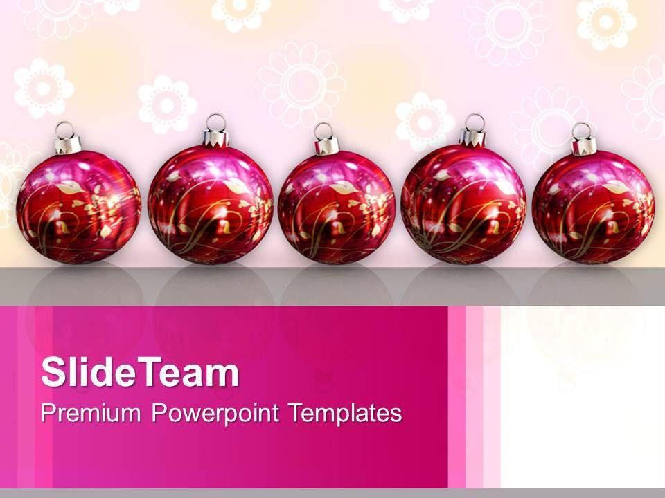 Christmas Tree Vintage Illustration Of Ornaments Powerpoint