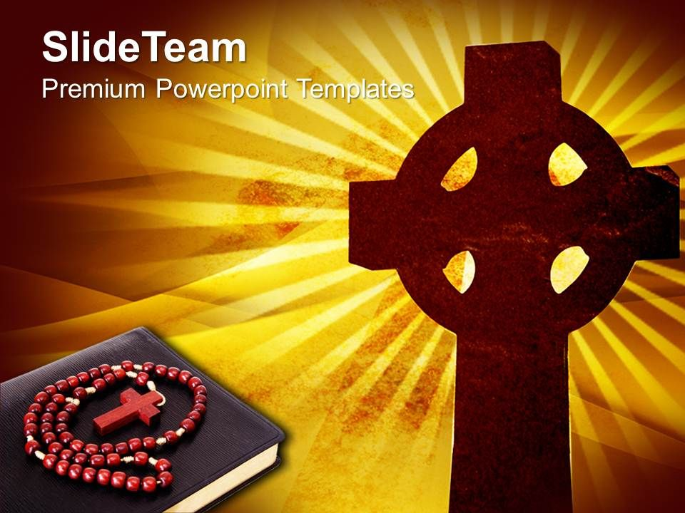 Church Images Powerpoint Templates Christian Cross Background Religion Growth Ppt Design Slides Slide01
